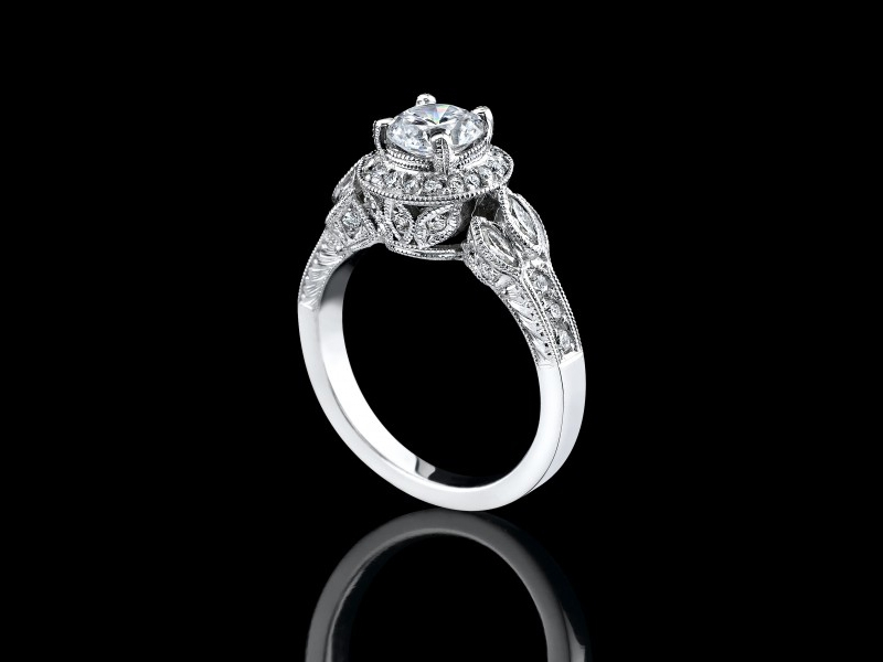 double carat carats halo brilliant engagement square floating products ring diamond shank fullxfull accent split diamonds cut il